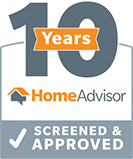 10 Years Home Advisor Screened & Approved